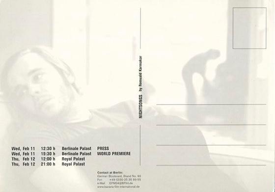 Ein Film von Romuald Karmakar, Deutschland 2003, 96 Min Postkarte (Rückseite), Öffentlichkeitsarbeit für die Weltpremiere des Films im Wettbewerb der Berlinale 2004 © 2004 Prokino Filmverleih