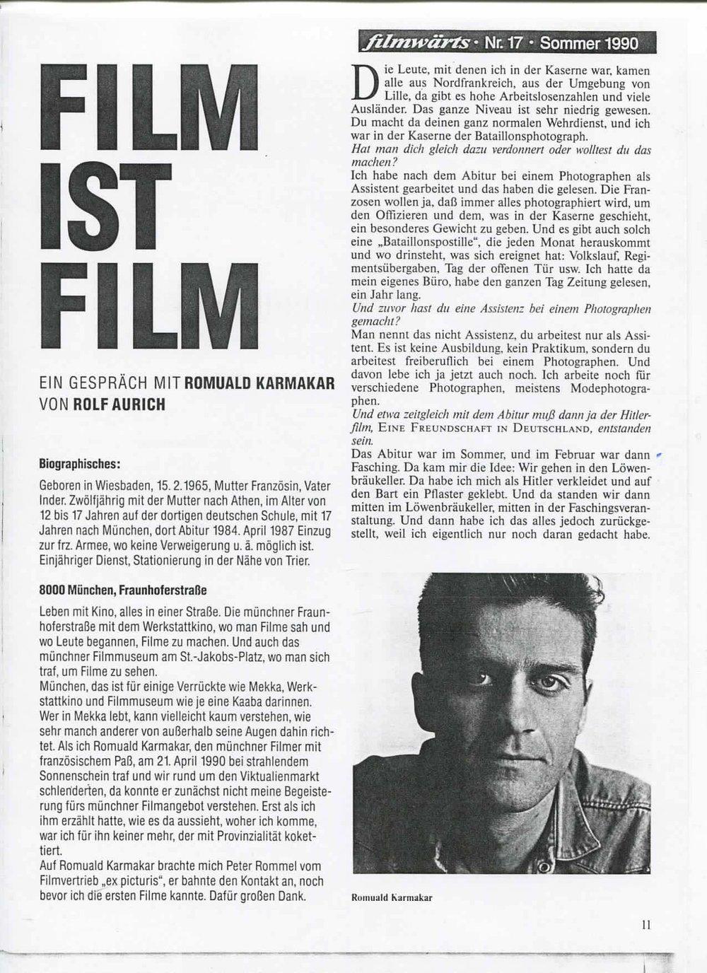 Film ist Film