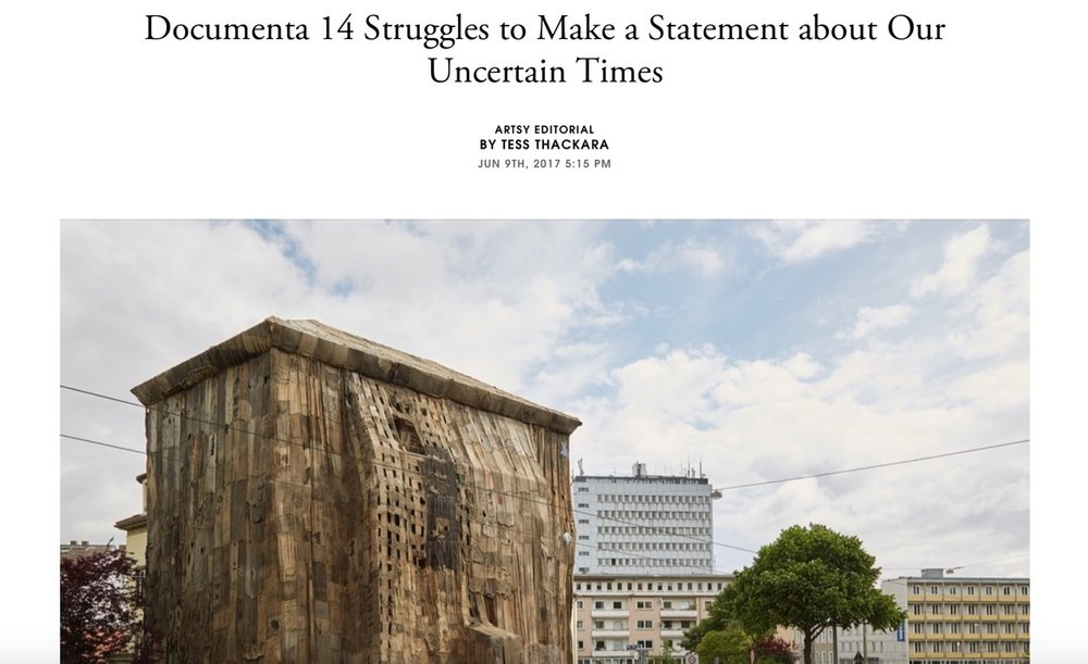 Documenta 14 Struggles to Make a Statement about Our Uncertain Times
