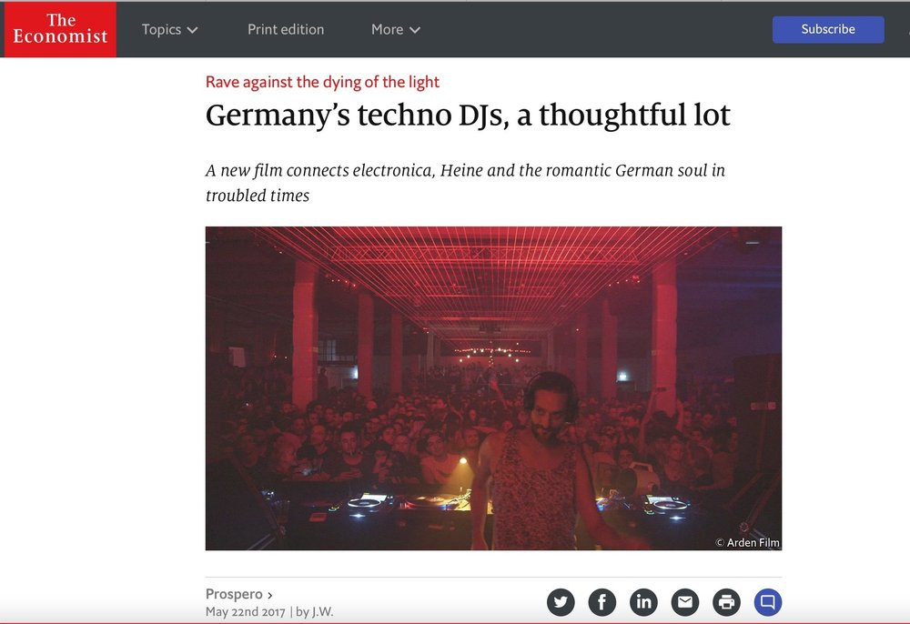 Germany's techno DJs, a thoughtful lot
