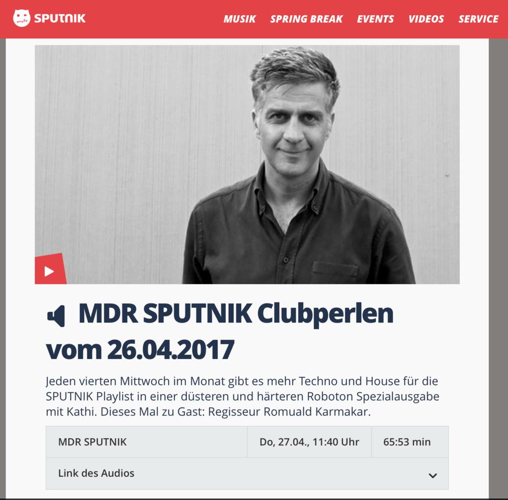 MDR STPUTNIK: Clubperlen vom 26.04.17 mit Gast: Romuald Karmakar