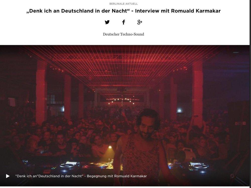 """""""Denk ich an Deutschland in der Nacht"""" - Interview mit Romuald Karmakar"""