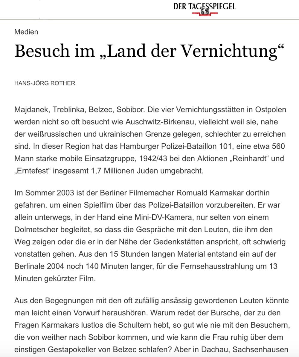 """Besuch im """"Land der Vernichtung"""""""