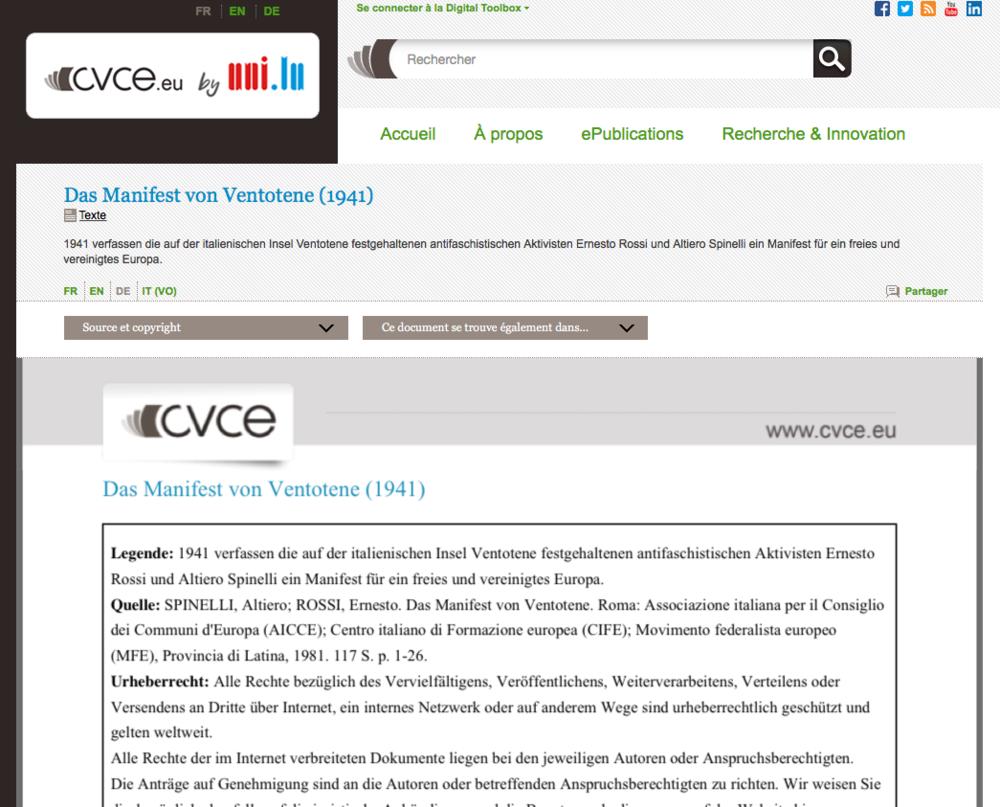Das Manifest von Ventotene (1941)