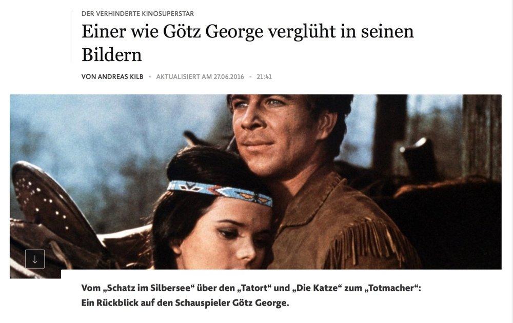 Der verhinderte Kinosuperstar: Einer wie Götz George verglüht in seinen Bildern