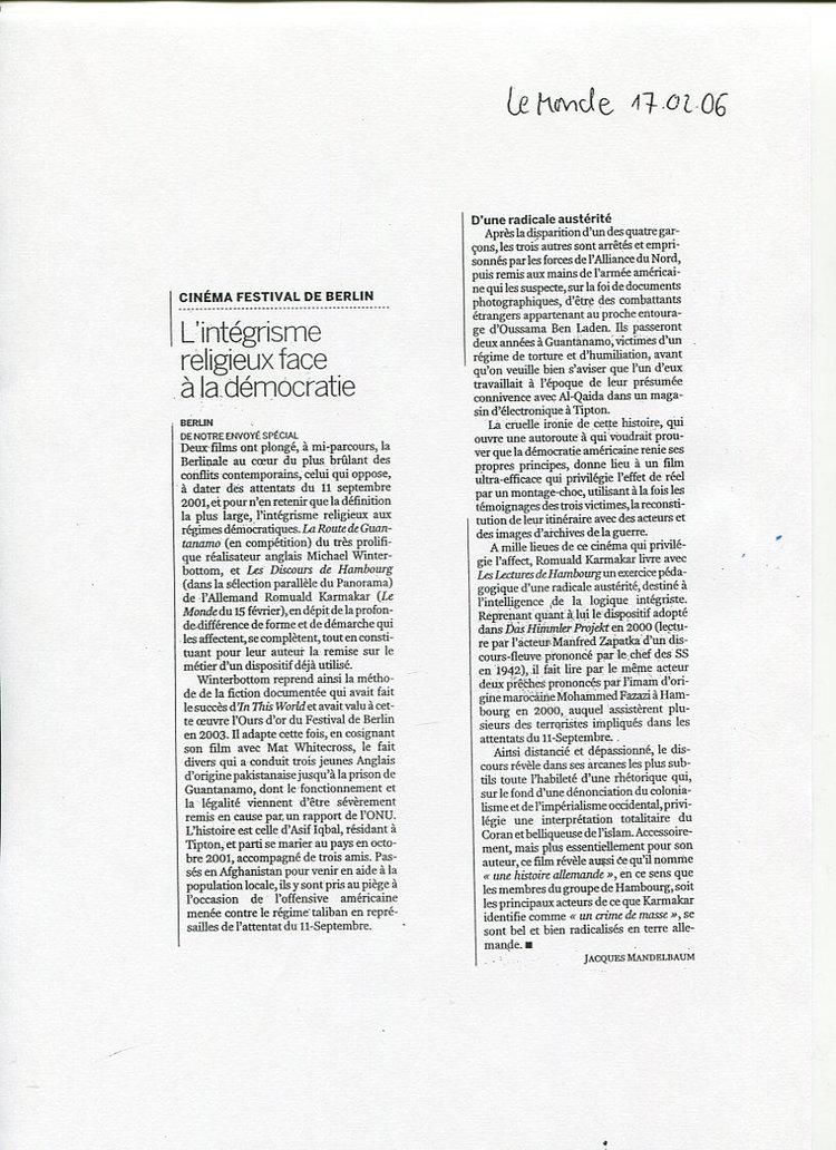 L'INTÉGRISME RELIGIEUX FACE À LA DÉMOCRATIE