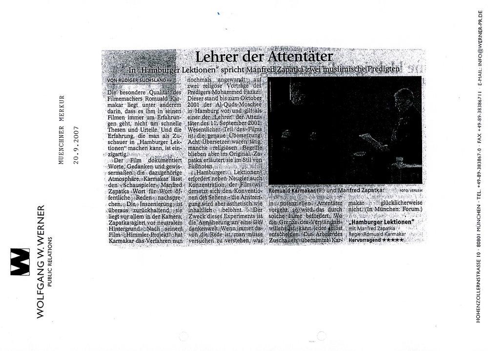 LEHRER DER ATTENTÄTER