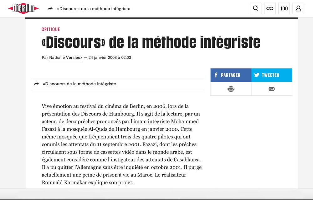 """""""DISCOURS"""" DE LA MÉTHODE INTÉGRISTE"""