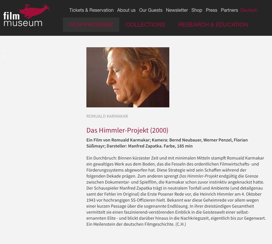 DAS HIMMLER-PROJEKT (2000)
