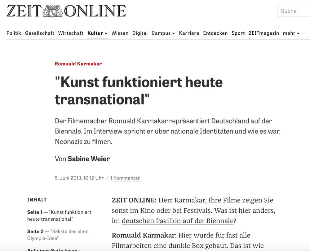 """Kunst funktioniert heute transnational"""