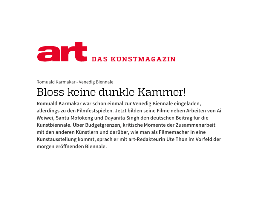 BLOSS KEINE DUNKLE KAMMER!