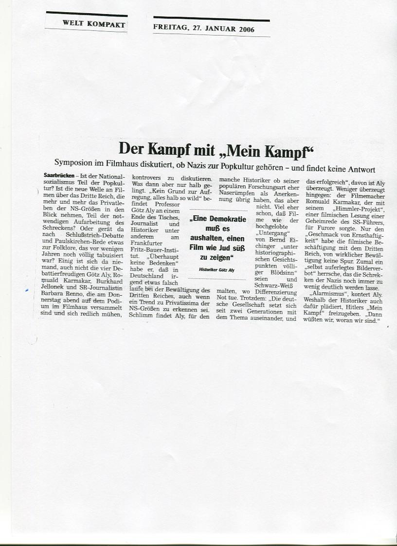"""Der Kampf mit """"Mein Kampf"""""""