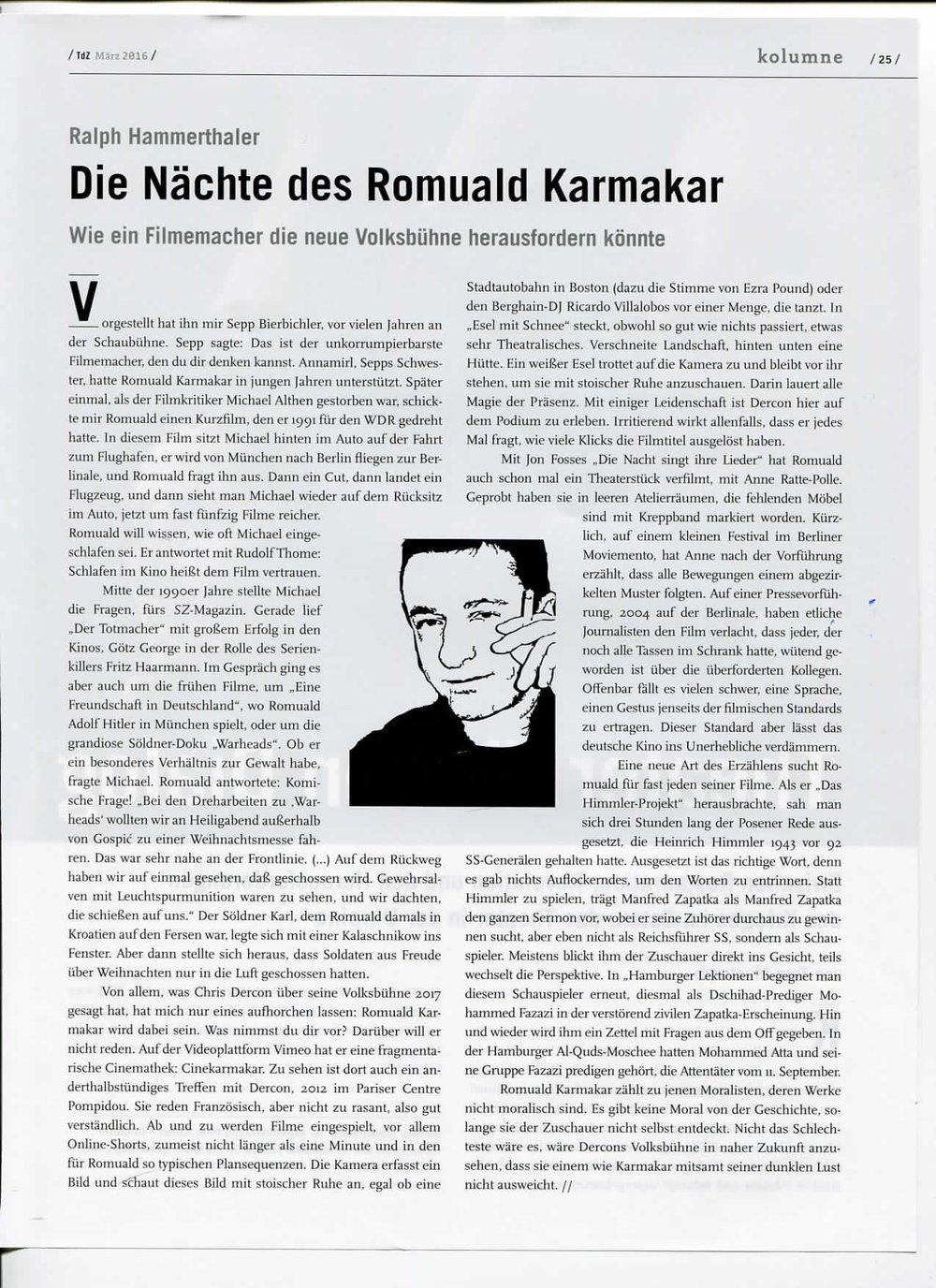 DIE NÄCHTE DES ROMUALD KARMAKAR
