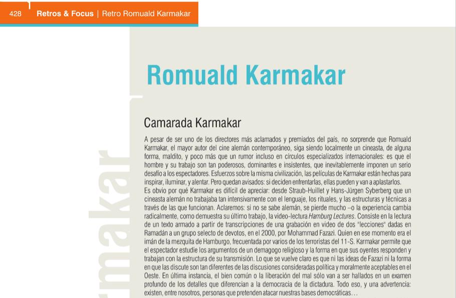 RETRO ROMUALD KARMAKAR