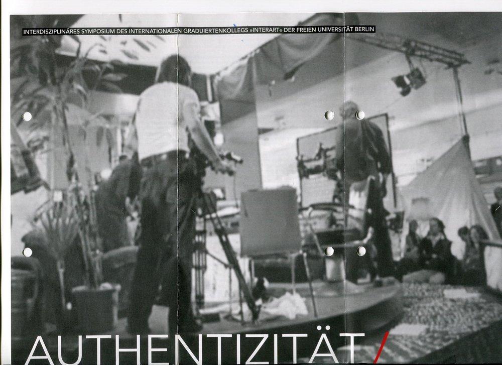AUTHENTIZITÄT / WIEDERHOLUNG