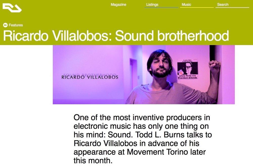 Ricardo Villalobos: Sound brotherhood