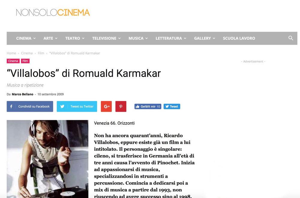 """""""Villalobos"""" di Romuald Karmakar"""