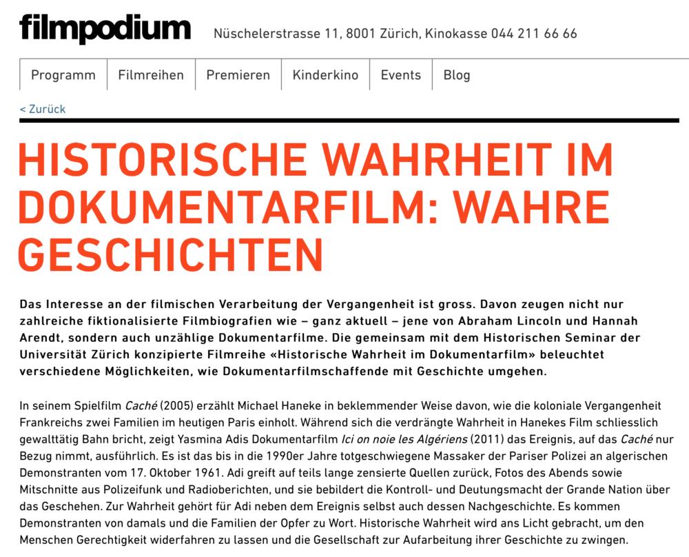 HISTORISCHE WAHRHEIT IM DOKUMENTARFILM: WAHRE GESCHICHTEN   Full Article