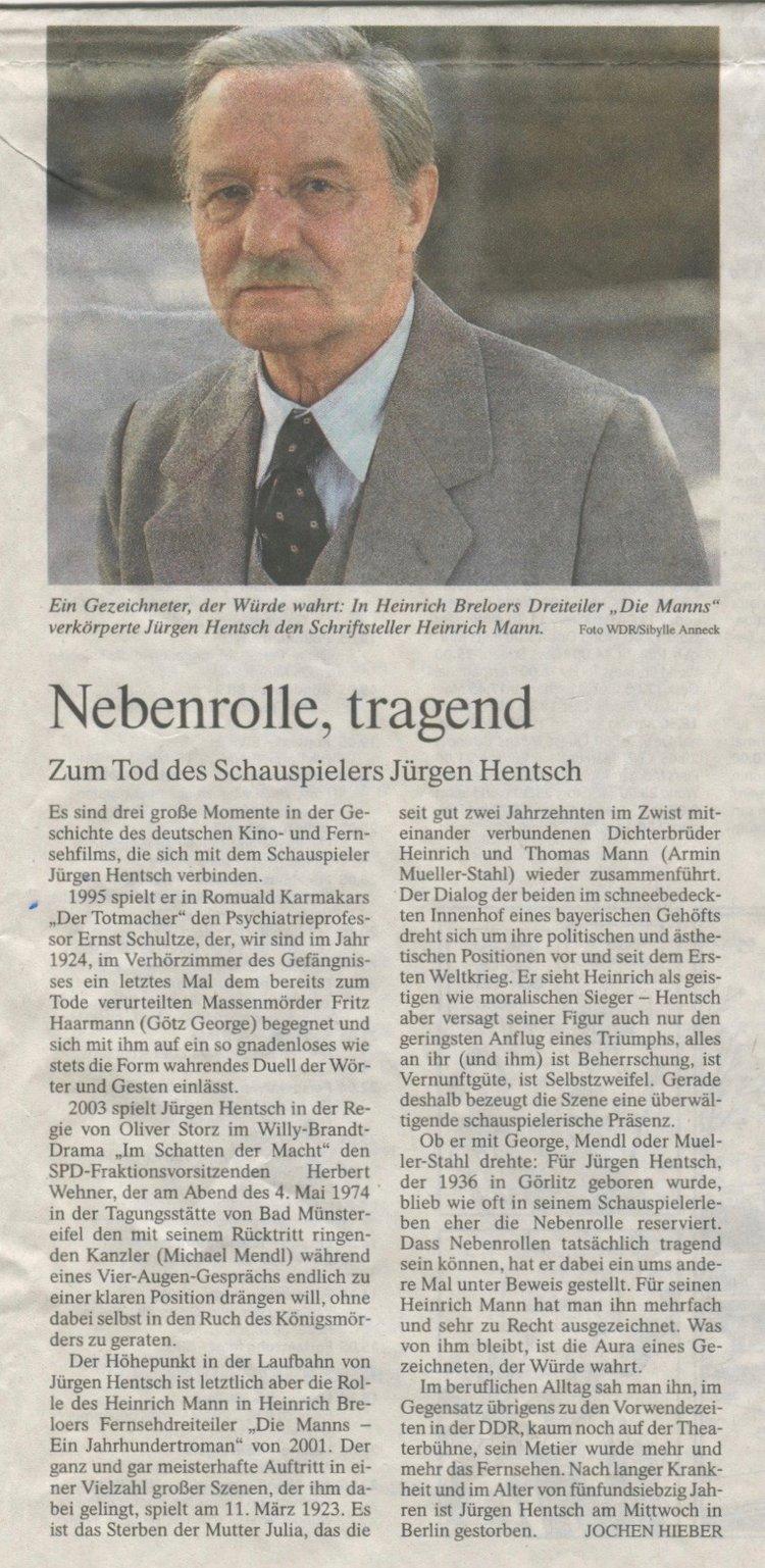 NEBENROLLE, TRAGEND