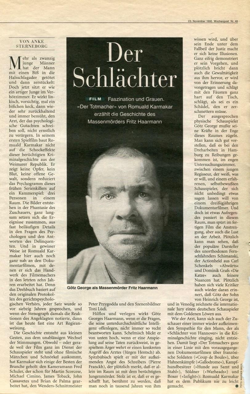 DER SCHLÄCHTER