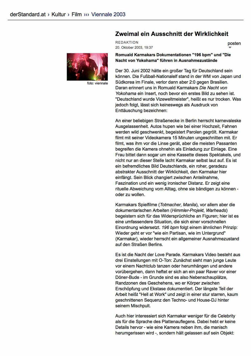ZWEIMAL EIN AUSSCHNITT DER WIRKLICHKEIT