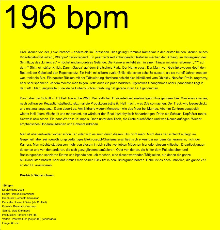 196 BPM
