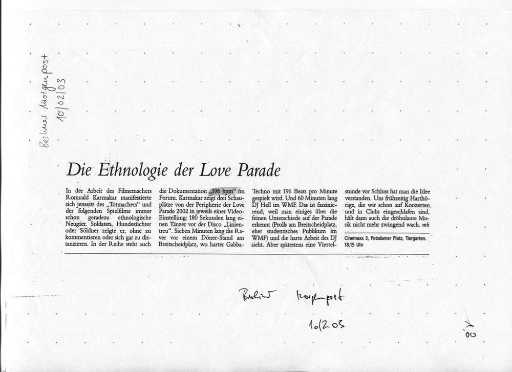 DIE ETHNOLOGIE DER LOVE PARADE