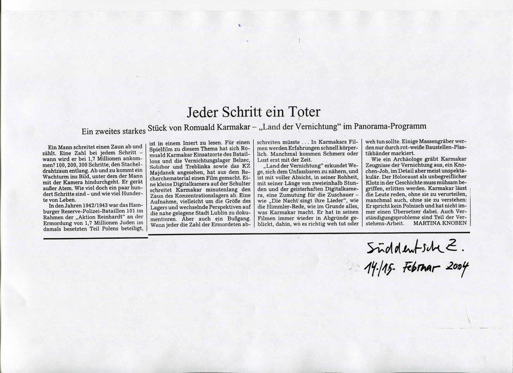 JEDER SCHRITT EIN TOTER