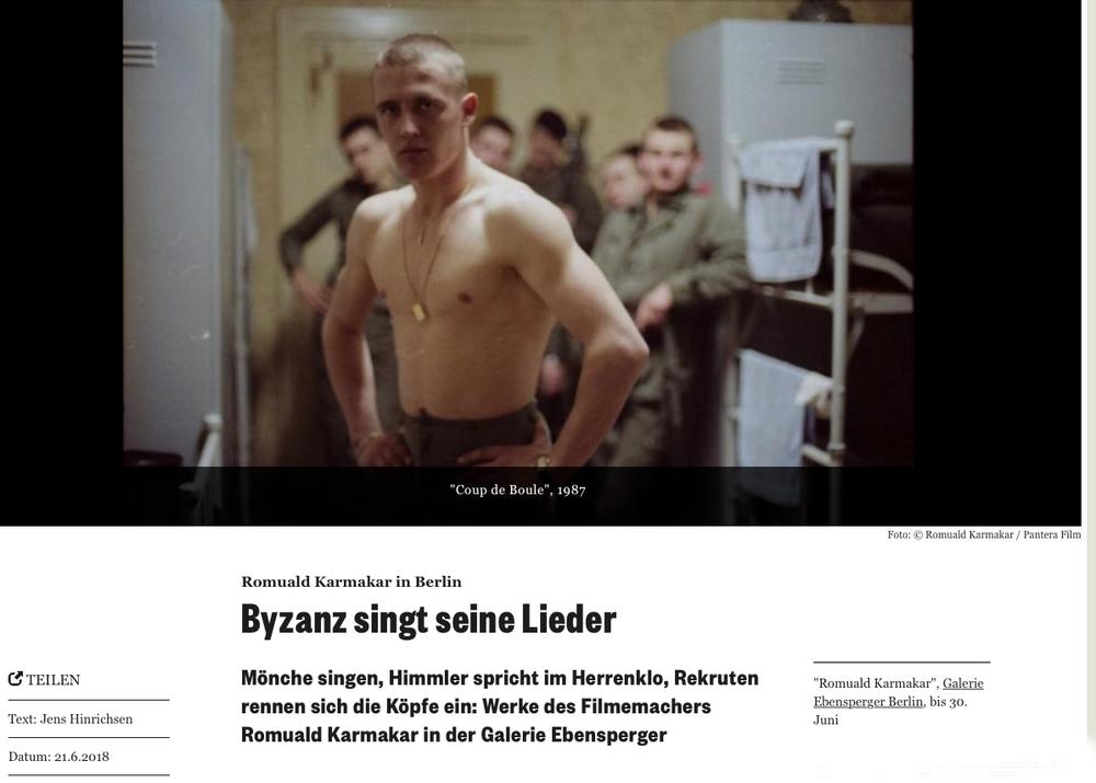 ROMUALD KARMAKAR IN BERLIN: BYZANZ SINGT SEINE LIEDER