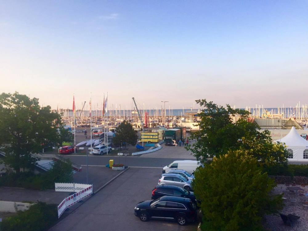 View from the Olympic Sailing Centre in Kiel, Germany.