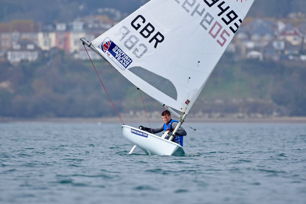 Laser Worlds and Europeans Qualifier 2 - Race 2 Leg 2 Downwind.