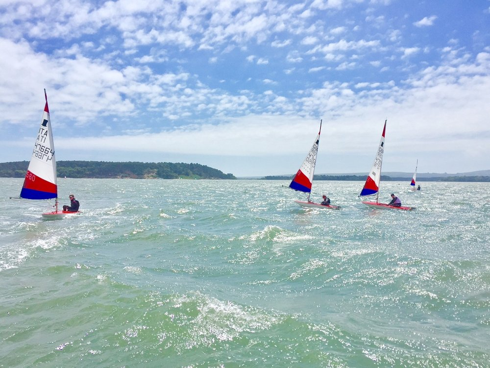 I started June off by coaching some young Topper sailors in Poole Harbour. Having never really been involved in the coaching scene before (I've always been too busy focused on my own development!) it was really nice to get out on the water in a rib and coach our next generation of sailors. It was very windy and they did a great job of coping!