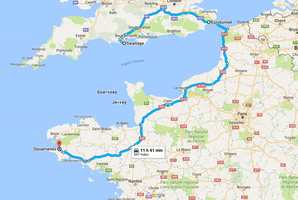 The first part of the trip was the massive drive all the way to Douarnenez, in France, for the Under-21 Europeans. Luckily I went with the rest of the lads in the team van so I only had to drive for a couple of hours. Cheers to Coach Dre and Millsa for driving the rest of the way!
