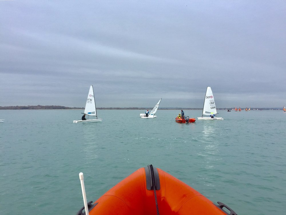 Coaching RS Aeros at Hayling Island in December.
