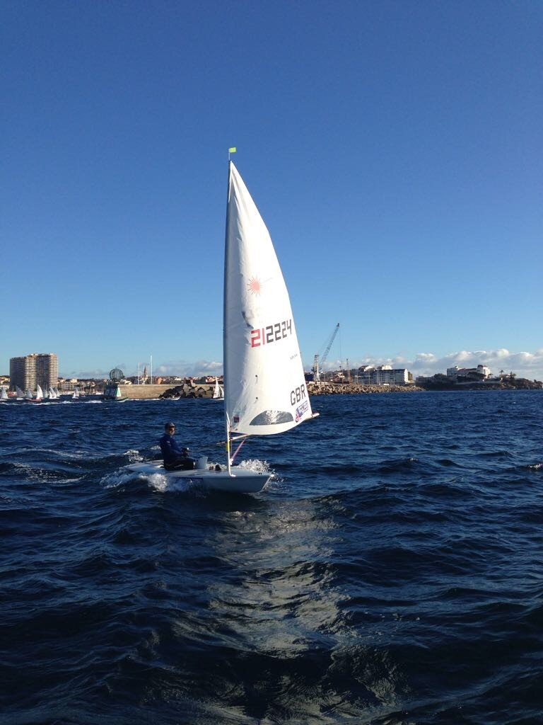After arriving at Palamos, unloading, getting ready and having a single day to practice I was thrown into competition in some stunning conditions - sunny, windy and wavy! Great fun.