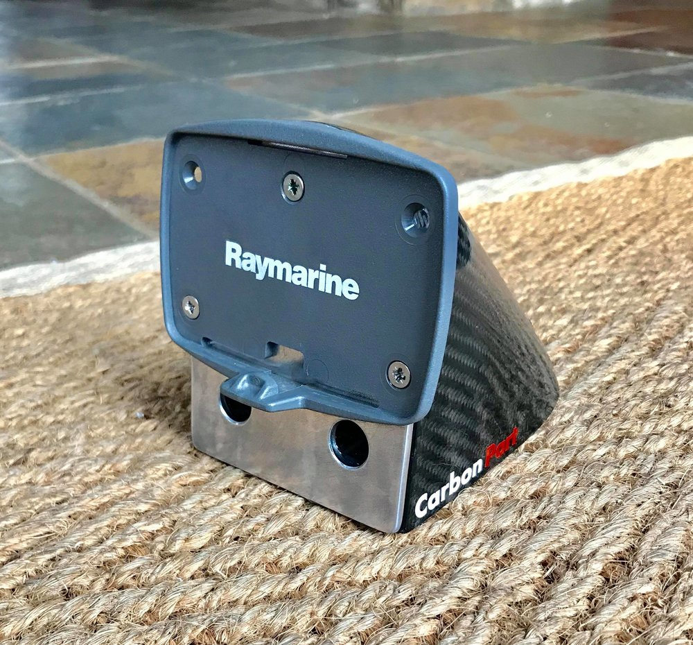 All the bad weather meant I had a bit more spare time and I was able to create this custom carbon fibre compass mount for my Laser, thanks to  Neaves Rowing Services Limited    who helped me make this.