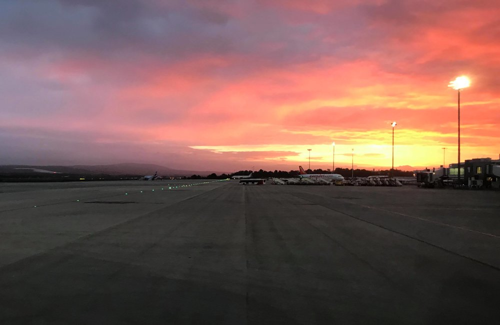 A lovely sunrise greeted me in Palma as my plane was about to take off.