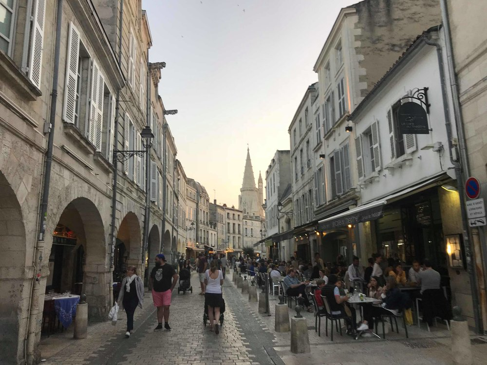 But first a rest day! And what better way than to go and explore the beautiful city of La Rochelle celebrating Nick Thompson's birthday.