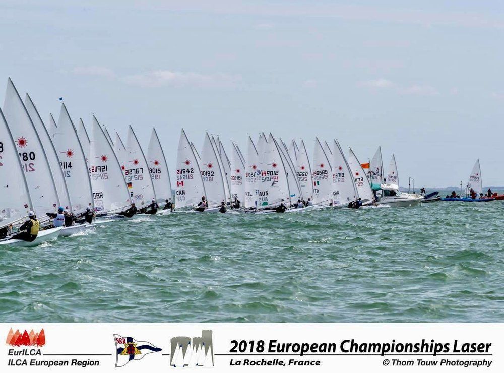 Despite my good starts I didn't sail to my full potential as I struggled to really understand the conditions. I qualified for gold fleet and set myself the task of moving up through the fleet. Whist my starting wasn't quite as good I still had some great moments and finished in 48th overall and 34th European.