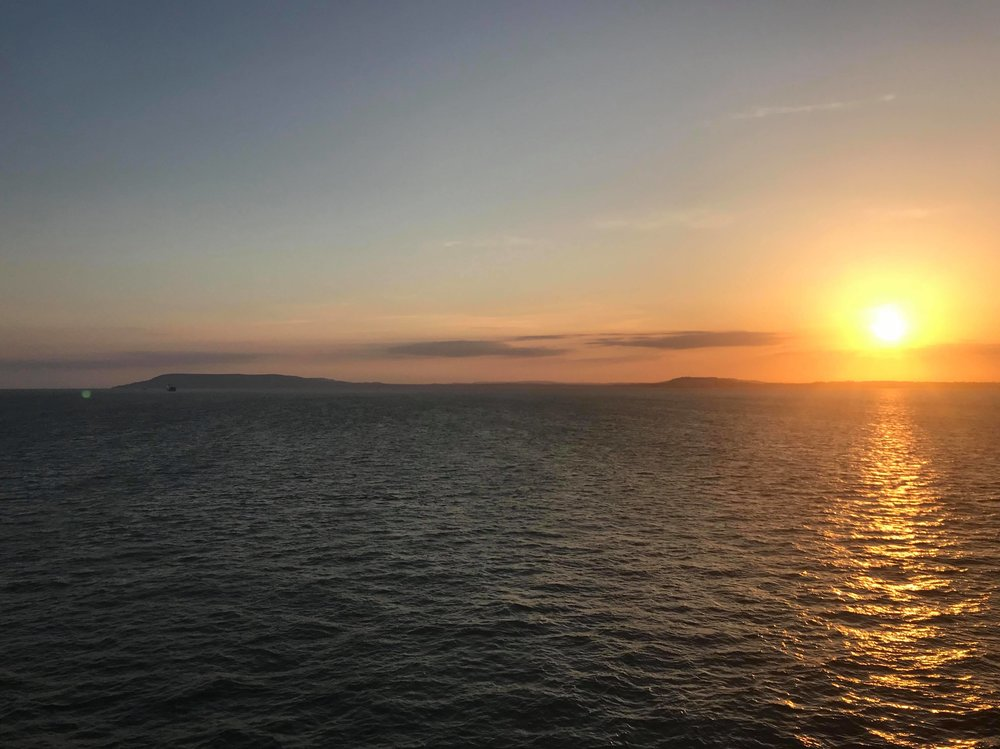 Lovely sunset over the Isle of Wight viewed from the ferry on the way home.