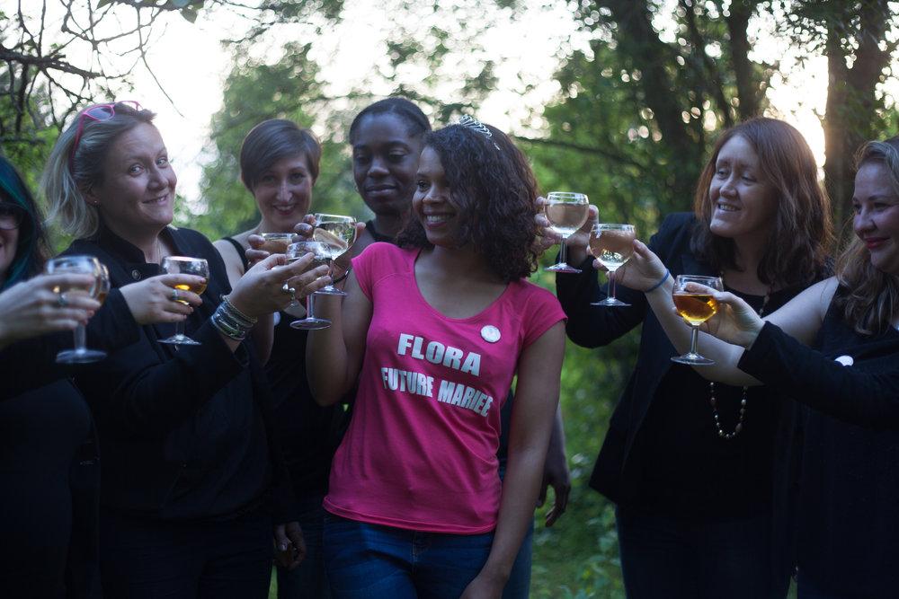 Avril 2016 - Enterrement de vie de jeune fille de Flora - Bordeaux