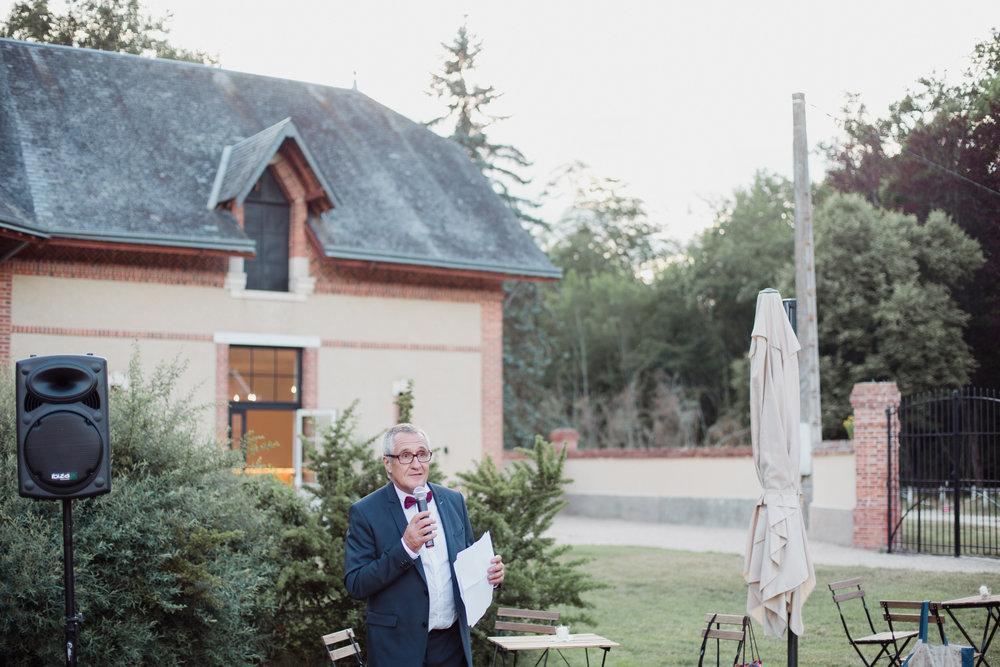 Discours papa mariage Orléans Gypsophile Photographe Pauline Maroussia P Bordeaux Dordogne