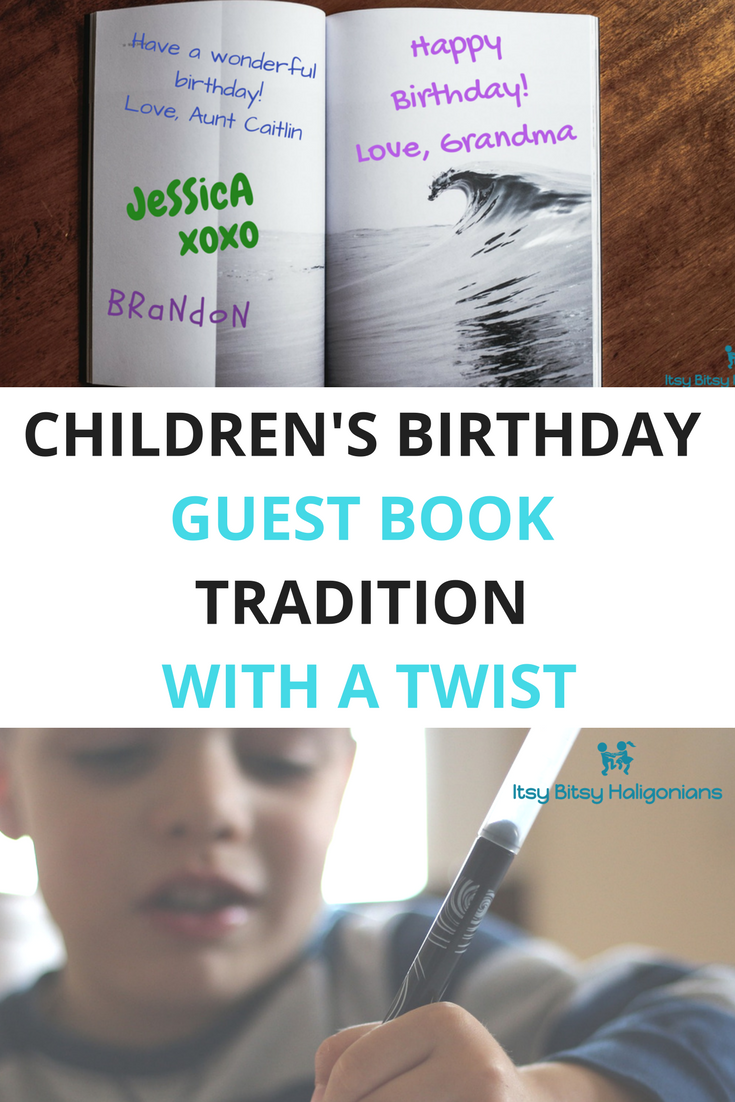 Really fun way to create a birthday keepsake for the kids that reflects their interests, their party and the guets!