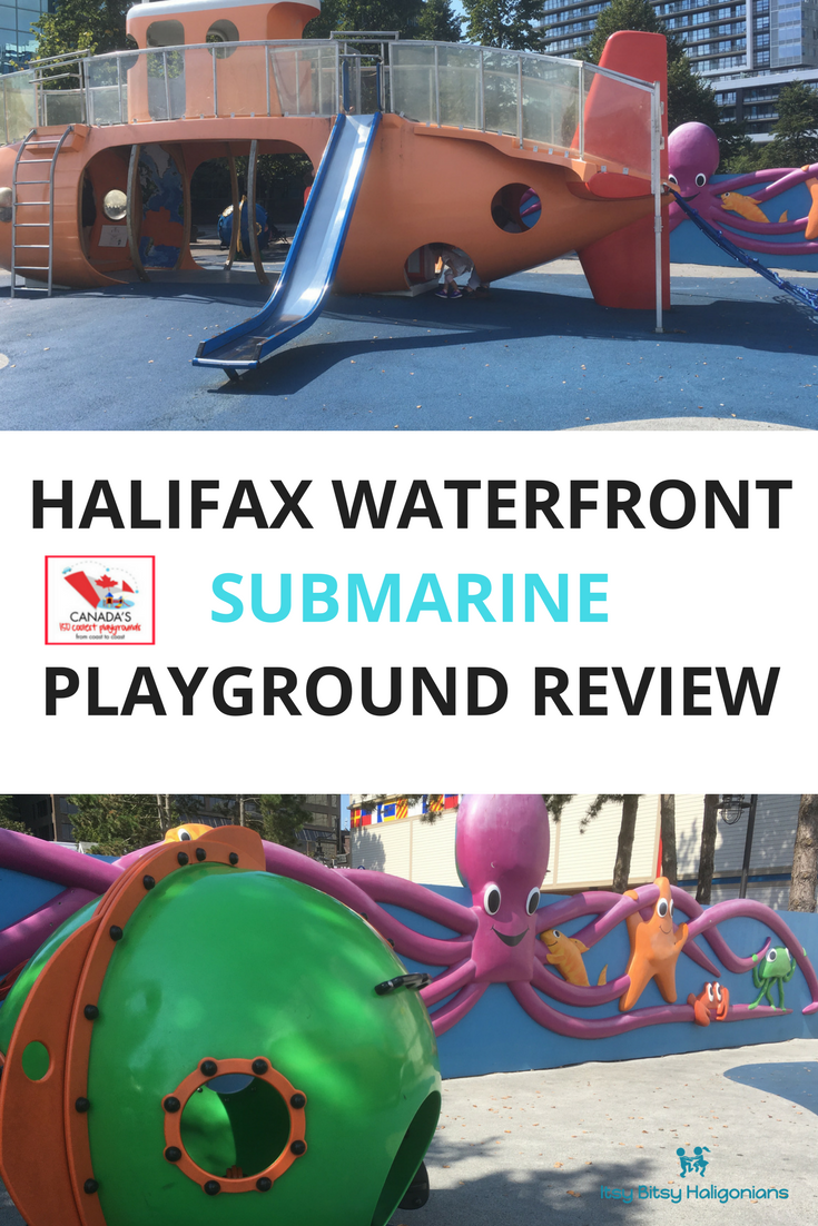 A must-see playground in Halifax and one of Canada's 150 coolest playgrounds! A review and photos of the Halifax Waterfront Submarine Playground