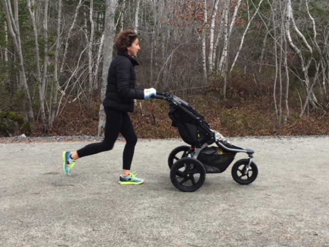 Courtney has completed multiple marathons and half-marathons, the most recent half-marathon was when she was 21 weeks pregnant (Image courtesy of Port City Strollers)