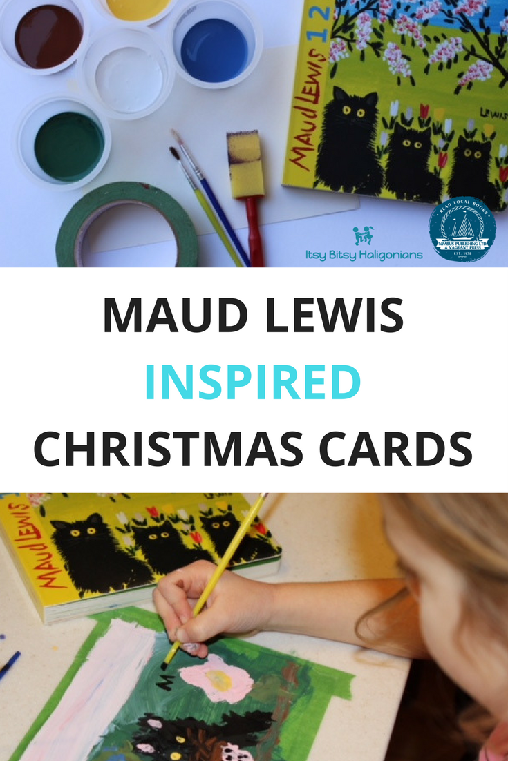 Children can create their own Maud Lewis inspired Christmas cards