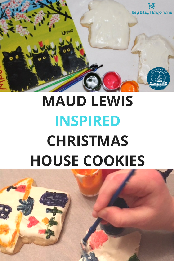 This Christmas cookie craft channels the Nova Scotia artist Maud Lewis and her own painted house