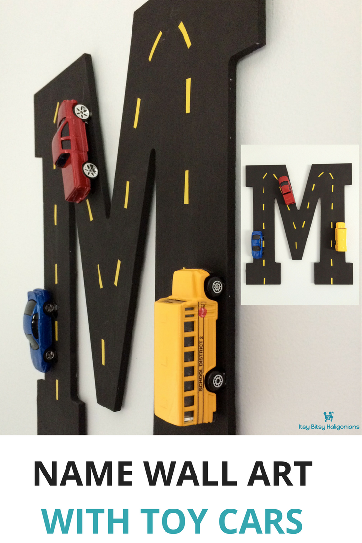 This name wall art is perfect for kids who love toy cars!.png