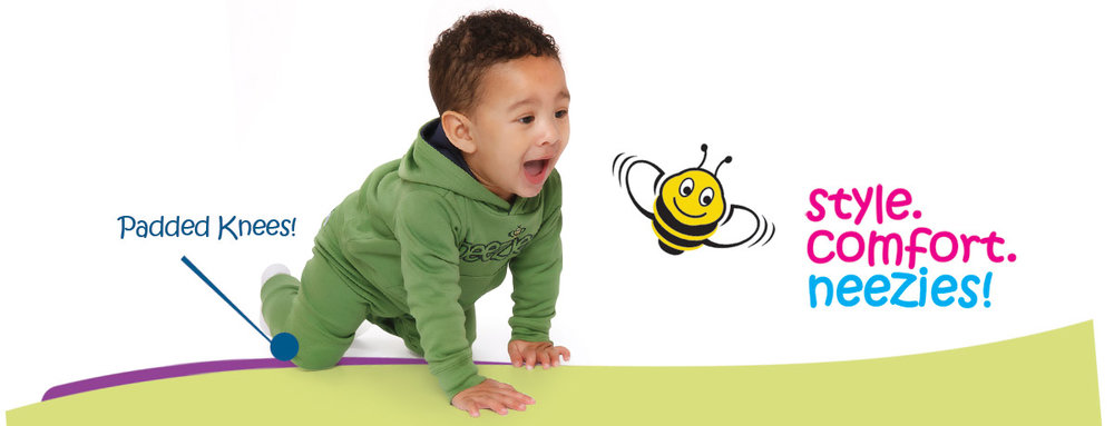 NEEZIES - Neezies, the bee's knees in kid comfort! From crawling pants to hoodies and tees, Neezies offers comfy, practical kid's clothing, all made in Nova Scotia!