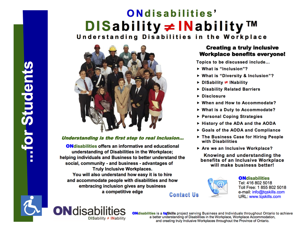 ONdisabilities - Disability in the Workplace for Students - 2016.jpg